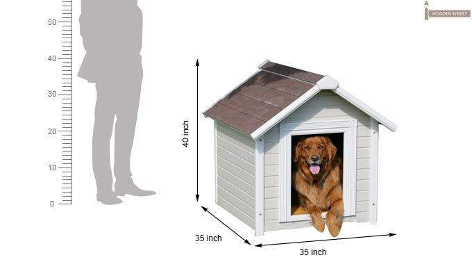 Maple Dog House (White Finish)-3