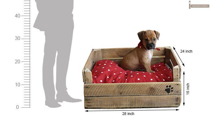 Lomi Dog Bed (Natural Finish)-2