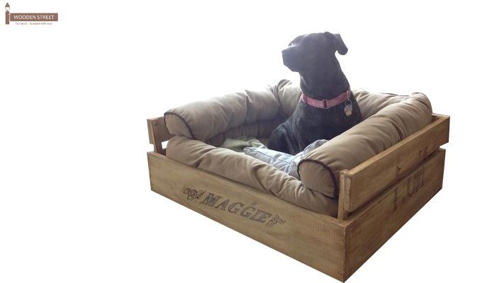 Paws Dog Bed (Natural Finish)-2