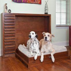 Pesto Foldable Dog House (Walnut Finish)