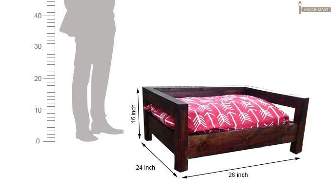 Ruby Dog Bed (Mahogany Finish)-3