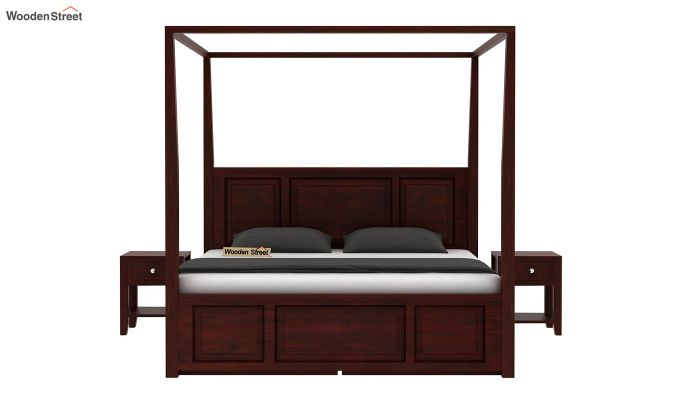 Attica Poster Bed With Storage (King Size, Mahogany Finish)-3