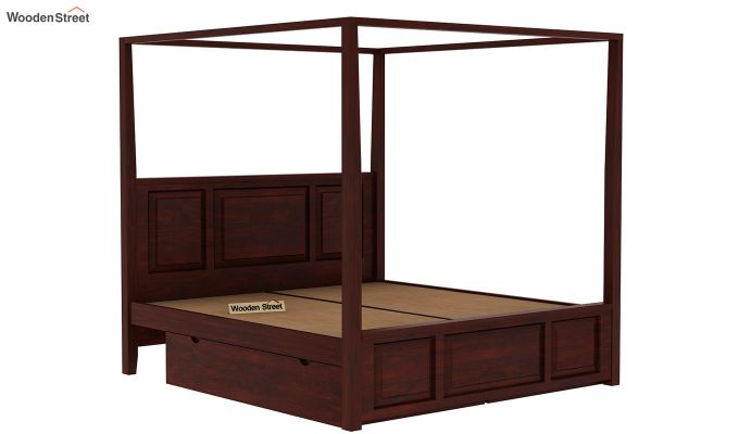 Attica Poster Bed With Storage (King Size, Mahogany Finish)-6