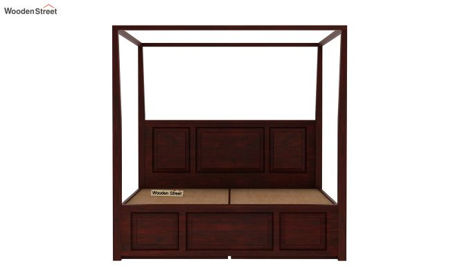 Attica Poster Bed With Storage (King Size, Mahogany Finish)-7