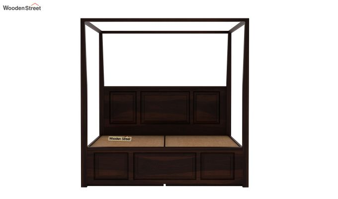 Attica Poster Bed With Storage (Queen Size, Walnut Finish)-6