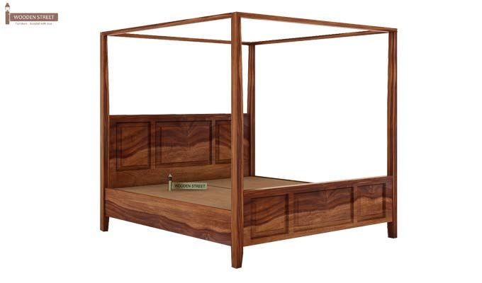 Attica Poster Bed Without Storage (King Size, Teak Finish)-5