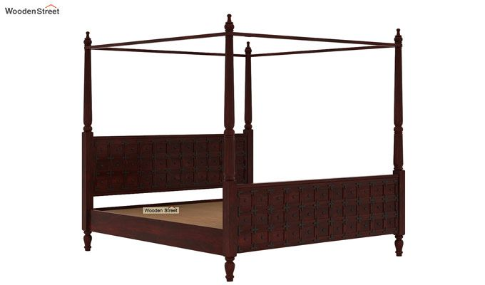 Citadel Poster Bed Without Storage (King Size, Mahogany Finish)-5