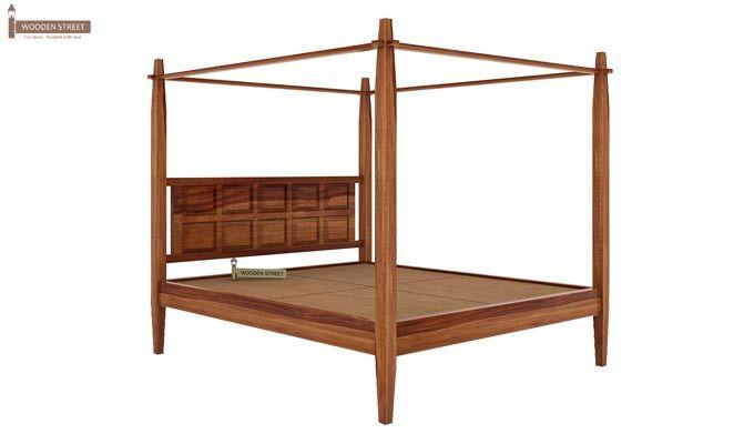 Garret Poster Bed Without Storage (King Size, Teak Finish)-3