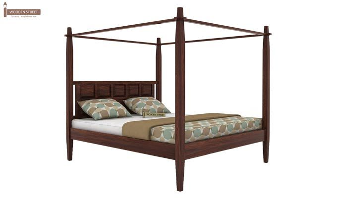Garret Poster Bed Without Storage (King Size,Walnut Finish)-3