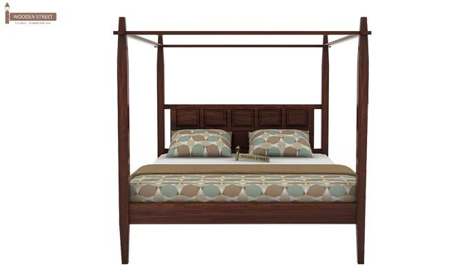 Garret Poster Bed Without Storage (King Size,Walnut Finish)-4