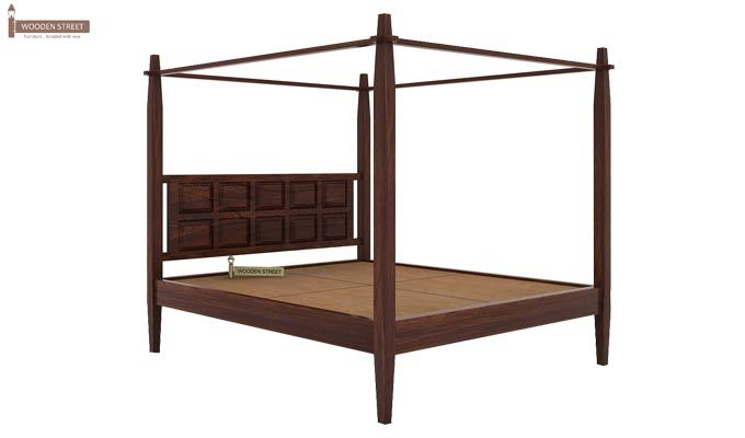 Garret Poster Bed Without Storage (King Size,Walnut Finish)-5