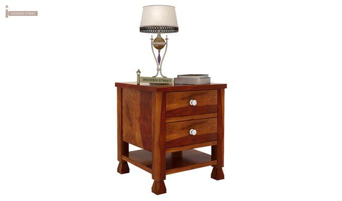 Kayur Bedside Table (Honey Finish)-2