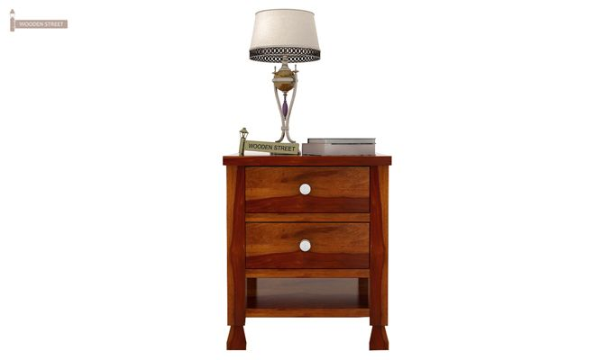 Kayur Bedside Table (Honey Finish)-3