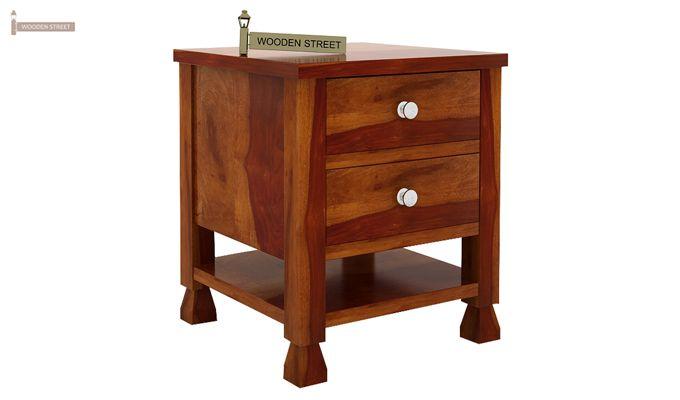 Kayur Bedside Table (Honey Finish)-4