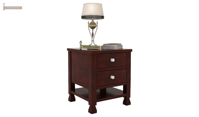 Kayur Bedside Table (Mahogany Finish)-1