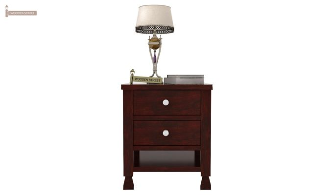 Kayur Bedside Table (Mahogany Finish)-2