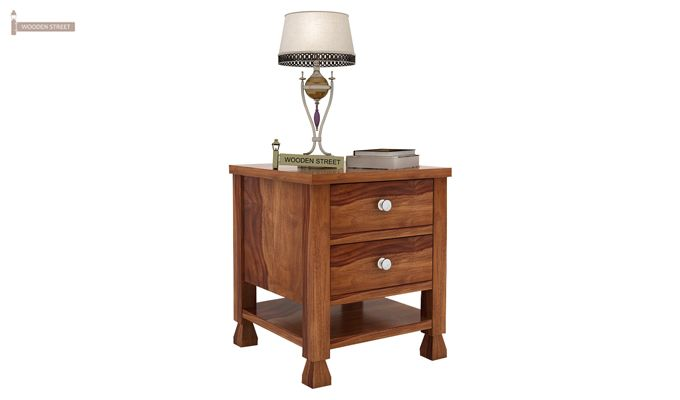 Kayur Bedside Table (Teak Finish)-1