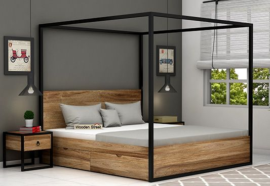 Samboy Loft Poster Bed With Storage