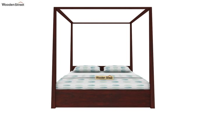Wisker Poster Bed With Storage (Queen Size, Mahogany Finish)-2