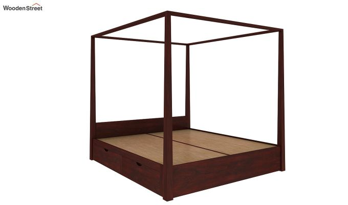 Wisker Poster Bed With Storage (King Size, Mahogany Finish)-5