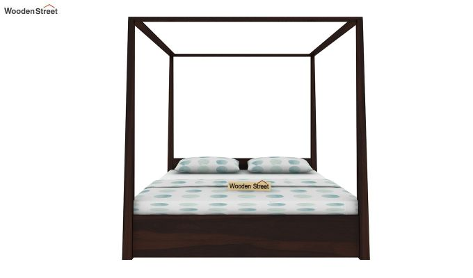 Wisker Poster Bed With Storage (King Size, Walnut Finish)-2