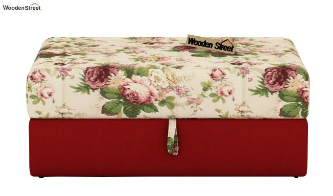 Mckellen Pouffe (Cream Blossom, Dusky Rose)-3