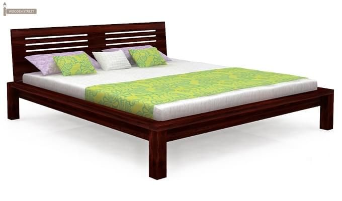Lynet Bed Without Storage (Queen Size, Mahogany Finish)-3