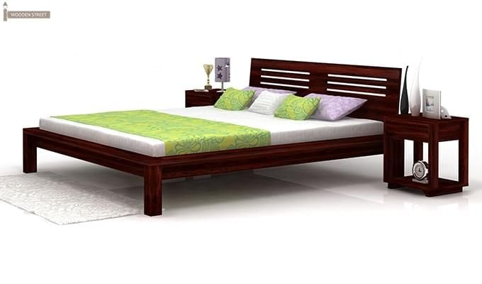 Lynet Bed Without Storage (Queen Size, Mahogany Finish)-4