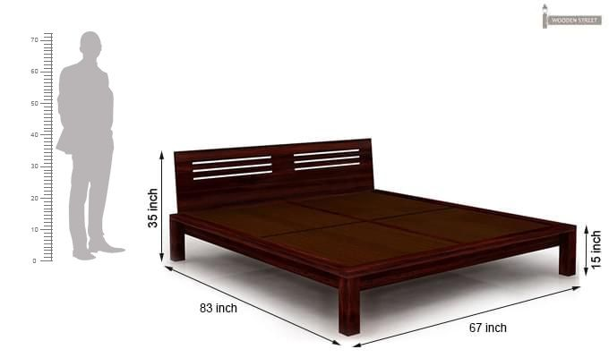Lynet Bed Without Storage (Queen Size, Mahogany Finish)-11