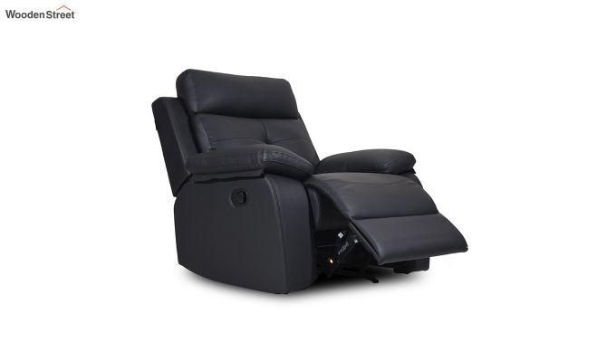 Ohio 1 Seater Recliner (Black)-2