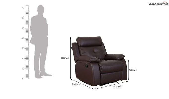 Ohio 1 Seater Recliner (Brown)-7