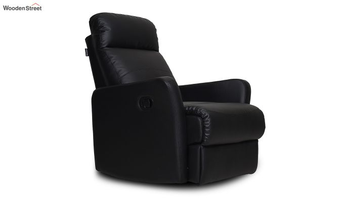 Sleek 1 Seater Recliner (Black)-1