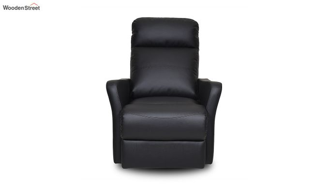 Sleek 1 Seater Recliner (Black)-2