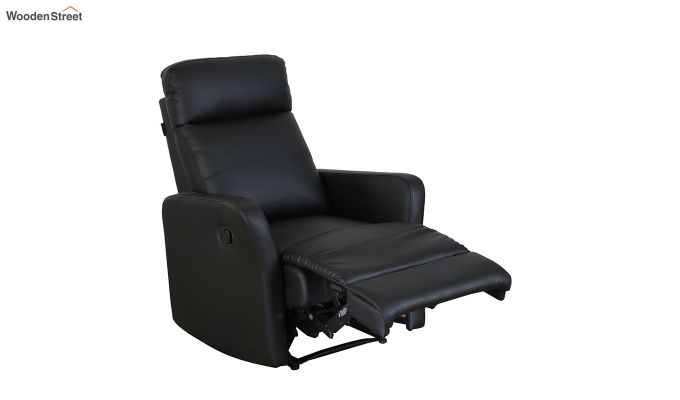 Sleek 1 Seater Recliner (Black)-6