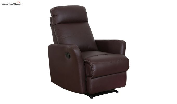Sleek 1 Seater Recliner (Brown)-4