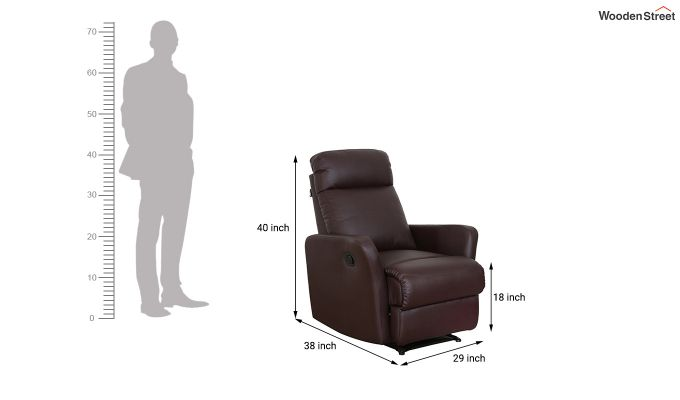 Sleek 1 Seater Recliner (Brown)-1