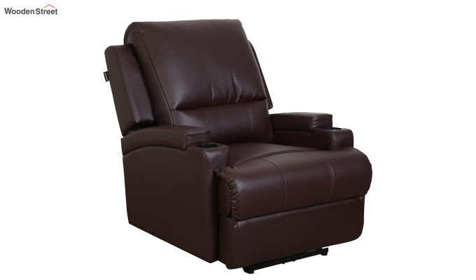 TV Chair 1 Seater Recliner (Brown)-1