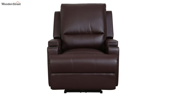 TV Chair 1 Seater Recliner (Brown)-2