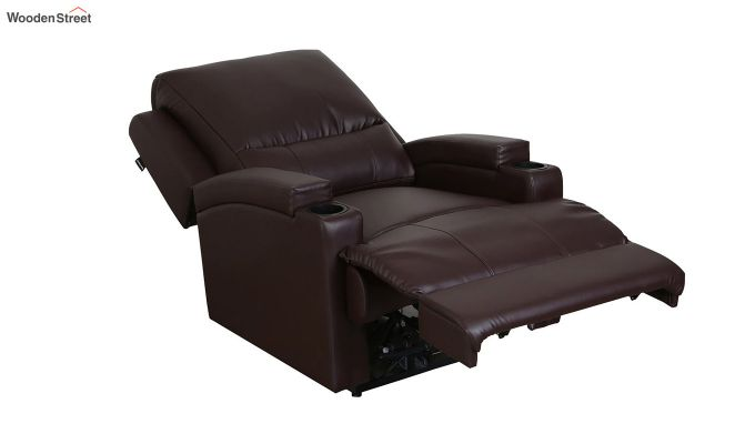 TV Chair 1 Seater Recliner (Brown)-3