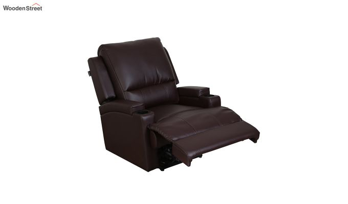 TV Chair 1 Seater Recliner (Brown)-4
