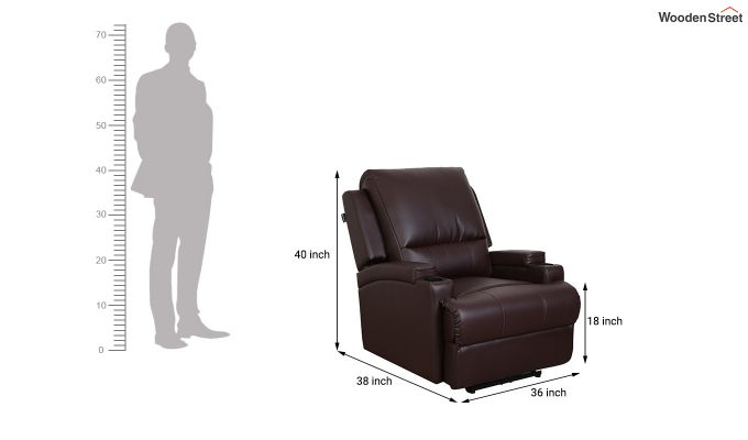 TV Chair 1 Seater Recliner (Brown)-6