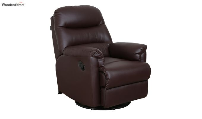 Wave 1 Seater Recliner (Brown)-1