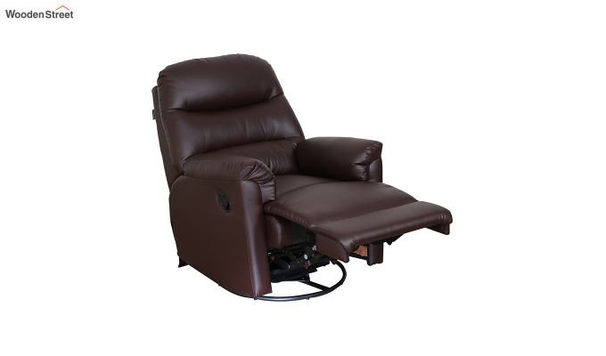 Wave 1 Seater Recliner (Brown)-3
