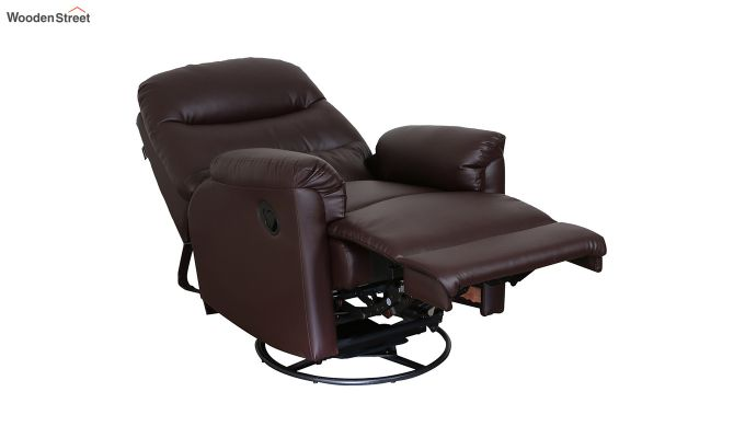 Wave 1 Seater Recliner (Brown)-4