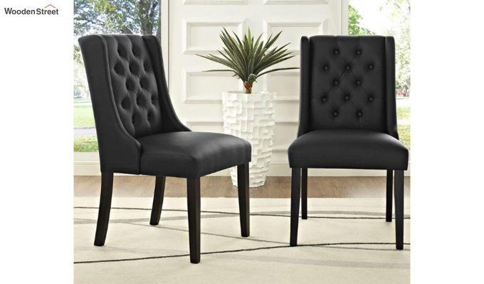 Amber Restaurant Chair Black (Steel Grey)-1