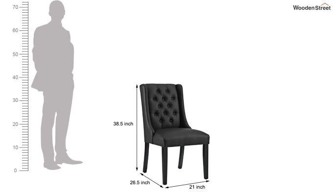 Amber Restaurant Chair Black (Steel Grey)-5