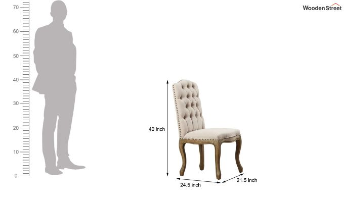 Rylie Restaurant Chair (Irish Cream)-5