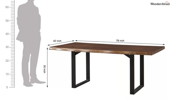 Balor Restaurant Table (Teak Finish)-8