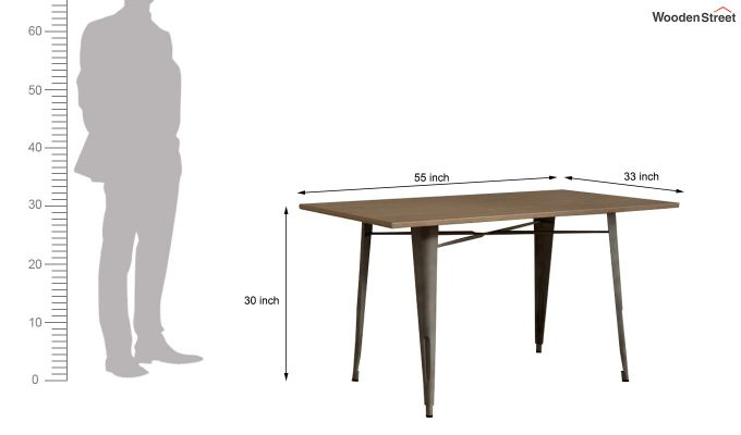 Calamo Restaurant Table (Teak Finish)-6