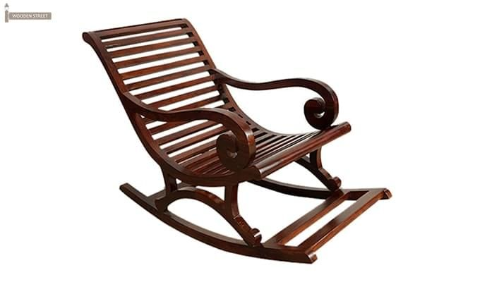 Albin Rocking Chair (Dark Teak Finish)-1